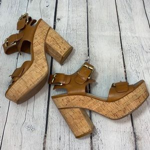 Kors Michael Kors leather platform heeled sandals